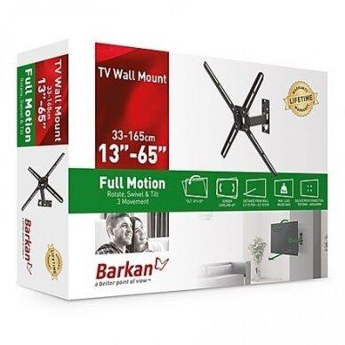 """BARKAN BM331T.B 13""""-65"""" TV, 3 lankstų, sieninis, juodas 5"""