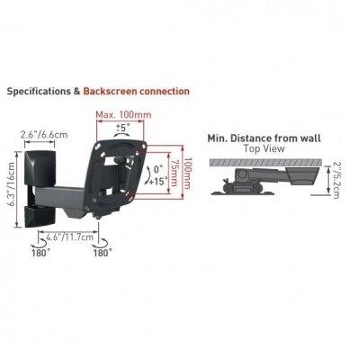 "BARKAN E130.B 26"" LCD, 3 lankstų, sieninis, juodas 2"