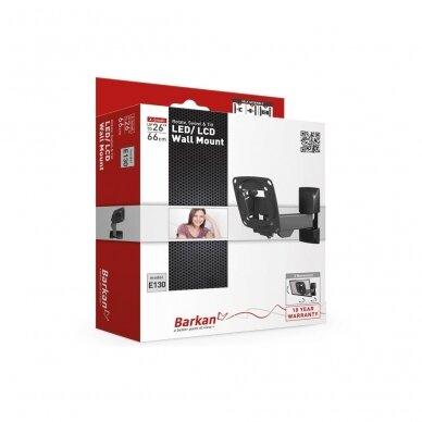 "BARKAN E130.B 26"" LCD, 3 lankstų, sieninis, juodas 3"