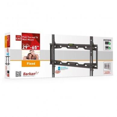 "BARKAN E302+.B 29""-65"" LED TV, fiksuotas, sieninis, juodas 3"